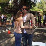 Sofía Vergara y Joe Manganiello celebrando su primer Día de Pascua