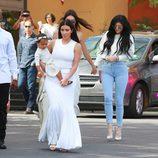 Kim Kardashian con North West en la Misa de Pascua 2015