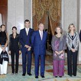 Los Reyes Felipe, Letizia, Juan Carlos y Sofía, las Infantas Elena y Cristina, Jaime de Marichalar e Iñaki Urdangarín