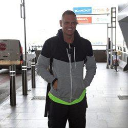 Nacho Vidal en el aeropuerto de Madrid para irse a 'Supervivientes 2015'