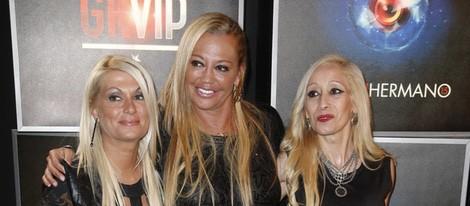 Belén Esteban junto a sus amigas Mariví y Tina en la fiesta de 'Gran Hermano VIP' en Madrid