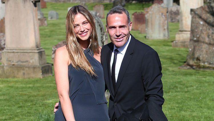 Martina Klein y Àlex Corretja en la boda de Andy Murray y Kim Sears