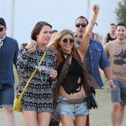 Fergie pasándoselo en grande en el Festival de Coachella 2015