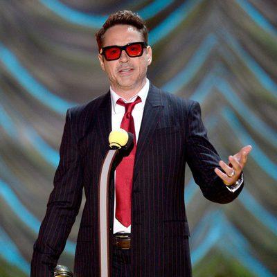 Robert Downey Jr. durante la gala de los MTV Movie Awards 2015