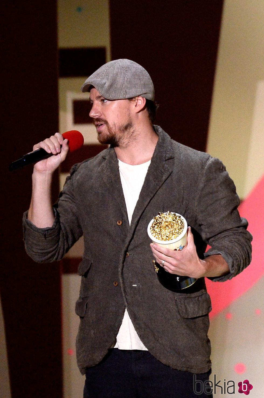 Channing Tatum durante la gala de los MTV Movie Awards 2015