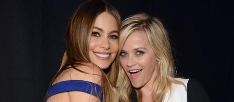 Sofía Vergara y Reese Witherspoon durante la gala de los MTV Movie Awards 2015
