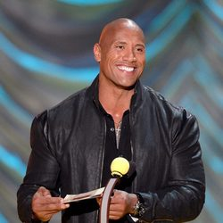 Dwayne Johnson durante la gala de los MTV Movie Awards 2015