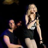 Madonna y Drake cantando en un concierto en el Festival de Coachella 2015