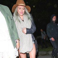 Hilary Duff por la noche en el Festival de Coachella 2015