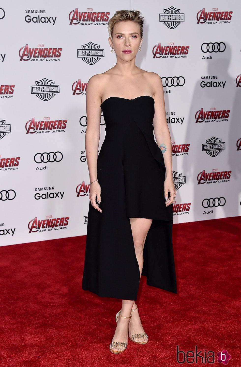Scarlett Johansson en el estreno de 'Los vengadores: la era de Ultron' en Los Angeles