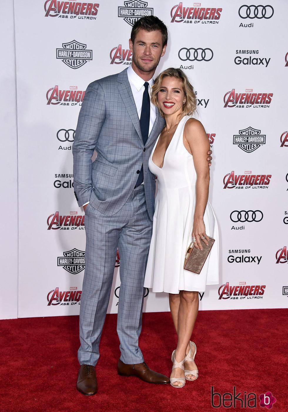 Chris Hemsworth y Elsa Pataky en el estreno de 'Los vengadores: la era de Ultron' en Los Angeles