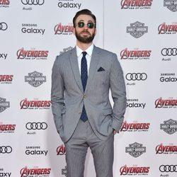 Chris Evans en el estreno de 'Los vengadores: la era de Ultron' en Los Angeles
