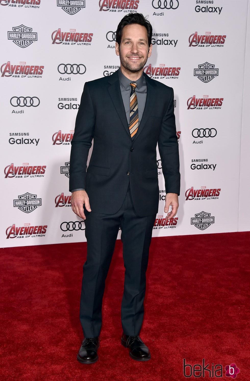 Paul Rudd en el estreno de 'Los vengadores: la era de Ultron' en Los Angeles