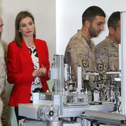La Reina Letizia en la Academia de Artillería de Segovia