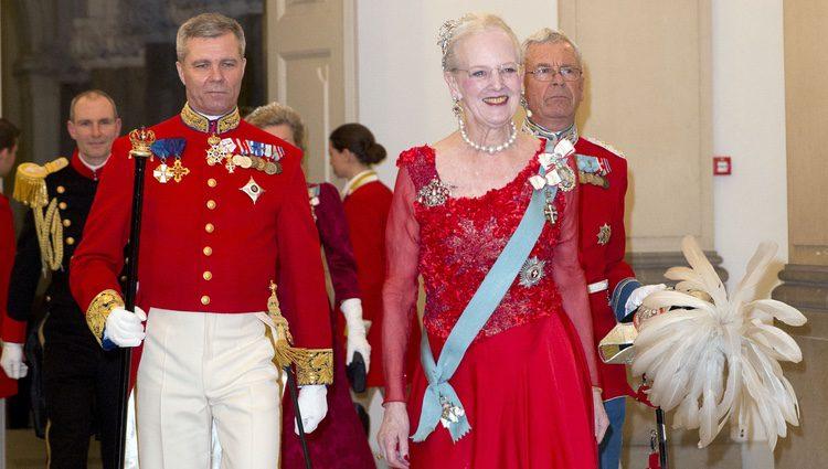 Margarita de Dinamarca en la cena de gala por su 75 cumpleaños