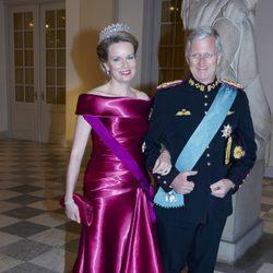 Felipe y Matilde de Bélgica en el 75 cumpleaños de Margarita de Dinamarca