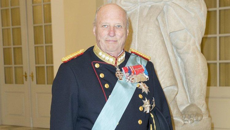 Harald de Noruega en el 75 cumpleaños de Margarita de Dinamarca