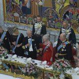 Margarita de Dinamarca se rodea de la realeza europea en su 75 cumpleaños