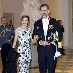 Los Reyes Felipe y Letizia en el 75 cumpleaños de Margarita de Dinamarca