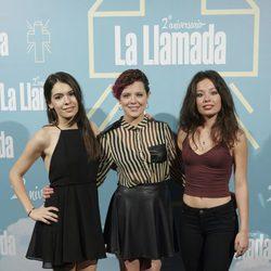 Claudia Traisac, Andrea Ros y Anna Castillo en el segundo aniversario de 'La llamada'