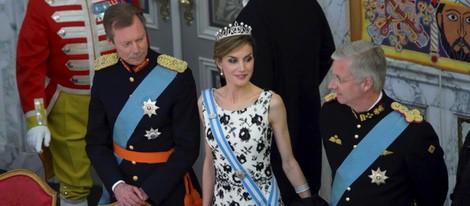 Enrique de Luxemburgo, la Reina Letizia y Felipe de Bélgica en el 75 cumpleaños de Margarita de Dinamarca