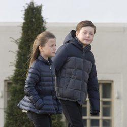 Christian e Isabel de Dinamarca en el 75 cumpleaños de Margarita de Dinamarca