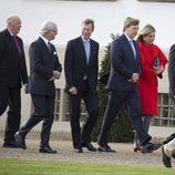 El Rey de Noruega, el Rey de Suecia, el Gran Duque de Luxemburgo y los Reyes de Holanda en el 75 cumpleaños de Margarita de Dinamarca