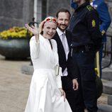 Haakon y Mette-Marit de Noruega en el 75 cumpleaños de Margarita de Dinamarca