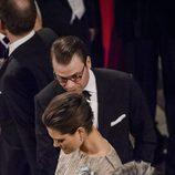 Victoria y Daniel de Suecia en la cena de gala por el 75 cumpleaños de Margarita de Dinamarca