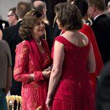 Silvia de Suecia en la cena de gala por el 75 cumpleaños de Margarita de Dinamarca