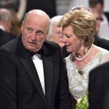 Harald de Noruega y Ana María de Grecia en la cena de gala por el 75 cumpleaños de Margarita de Dinamarca