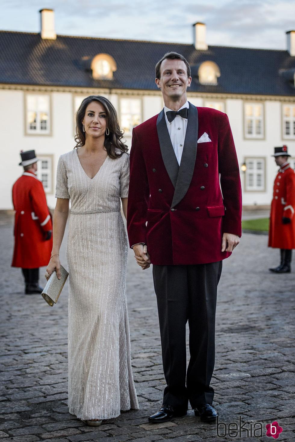 Joaquín y Marie de Dinamarca en la cena de gala por el 75 cumpleaños de Margarita de Dinamarca