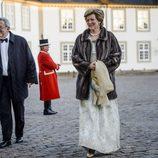 Constantino y Ana María de Grecia en la cena de gala por el 75 cumpleaños de Margarita de Dinamarca