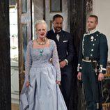 La Reina Margarita de Dinamarca en la cena de gala final por su 75 cumpleaños
