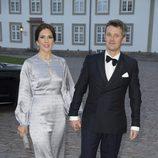 Federico y Mary de Dinamarca en la cena de gala por el 75 cumpleaños de Margarita de Dinamarca