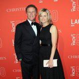 Will Ferrell y Viveca Paulin en la gala del 50 aniversario del LACMA