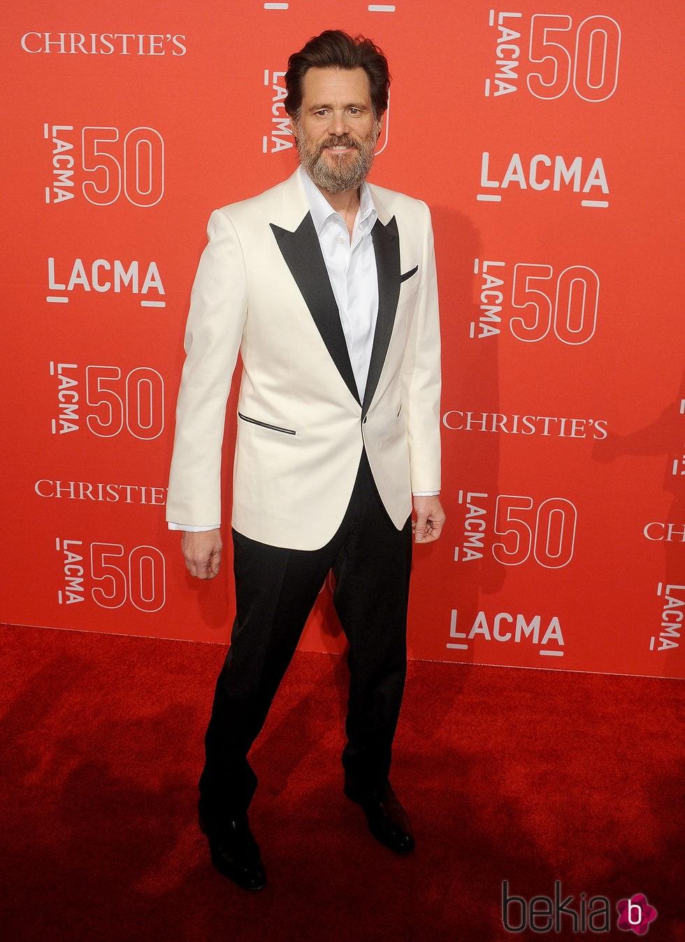 Jim Carrey en la gala del 50 aniversario del LACMA