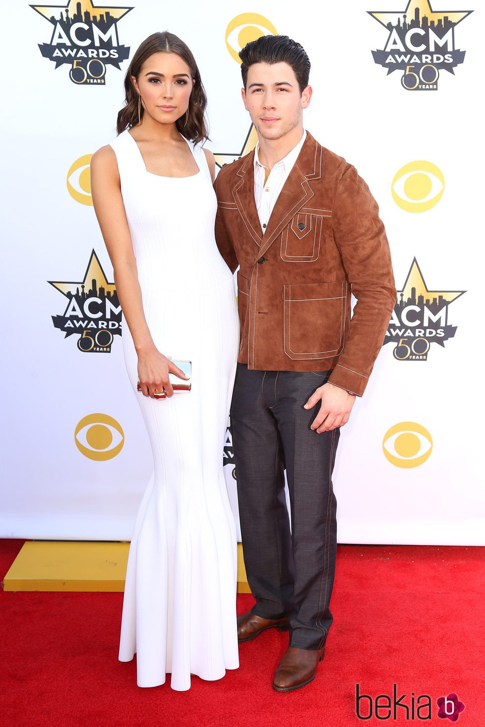 Nick Jonas y Olivia Culpo en los ACM Awards 2015
