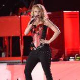Miranda Lambert durante su actuación en los ACM Awards 2015