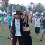 El cantante Johnny Hallyday en el segundo fin de semana del Coachella 2015