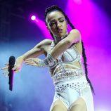 FKA Twigs actuando en el segundo fin de semana del Coachella 2015