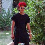 Jaden Smith con un tocado de flores en el segundo fin de semana del Coachella 2015
