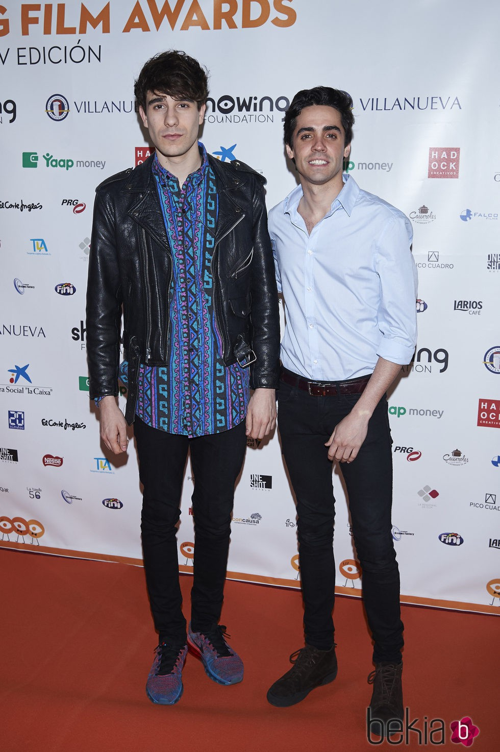 Javier Calvo y Javier Ambrossi en el Showing Film Awards