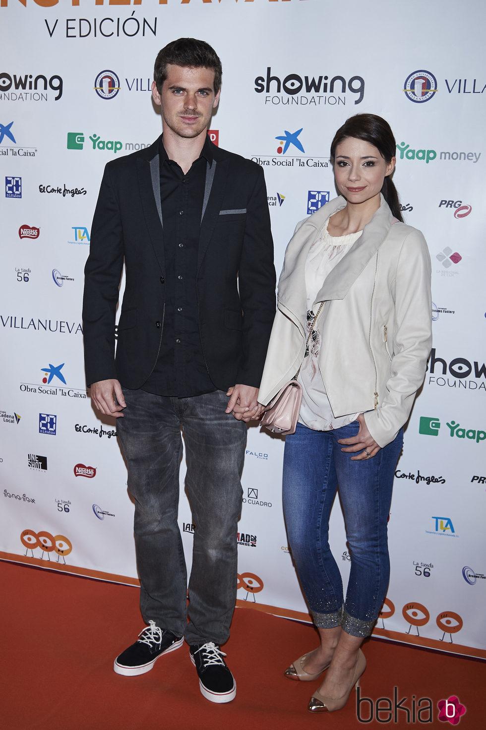 Gonzalo Ramos y Sofía Escobar en el Showing Film Awards