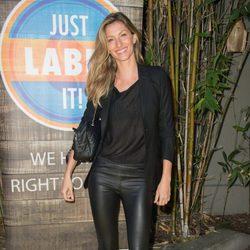 Gisele Bundchen en una fiesta solidaria de Just Label It en Los Angeles