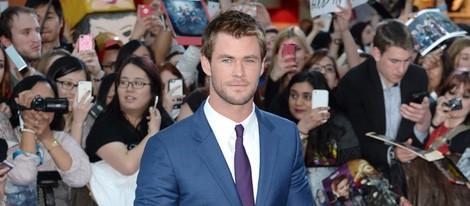 Chris Hemsworth en el estreno de 'Los Vengadores: la era de Ultron' en Londres