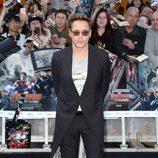 Robert Downey Jr. en el estreno de 'Los Vengadores: la era de Ultron' en Londres