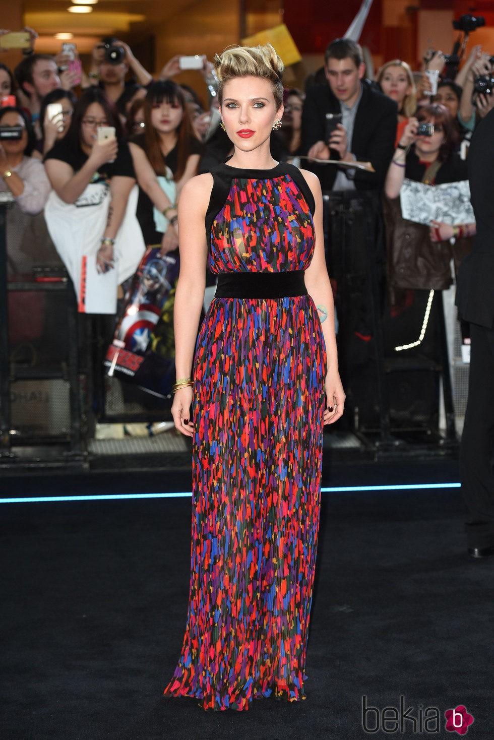 Scarlett Johansson en el estreno de 'Los Vengadores: la era de Ultron' en Londres