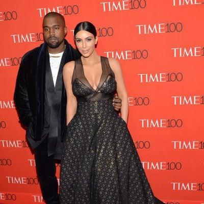 Kim Kardashian y Kanye West en la Gala Time de los 100 más influyentes 2015