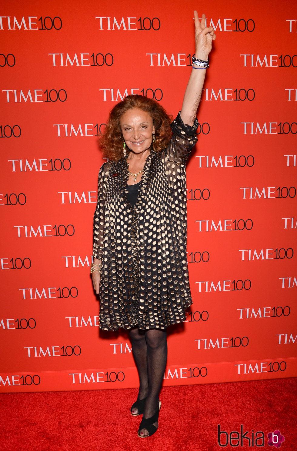 Diane Von Fürstenberg en la Gala Time de los 100 más influyentes de 2015